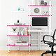 Connections® Desk Pink & White