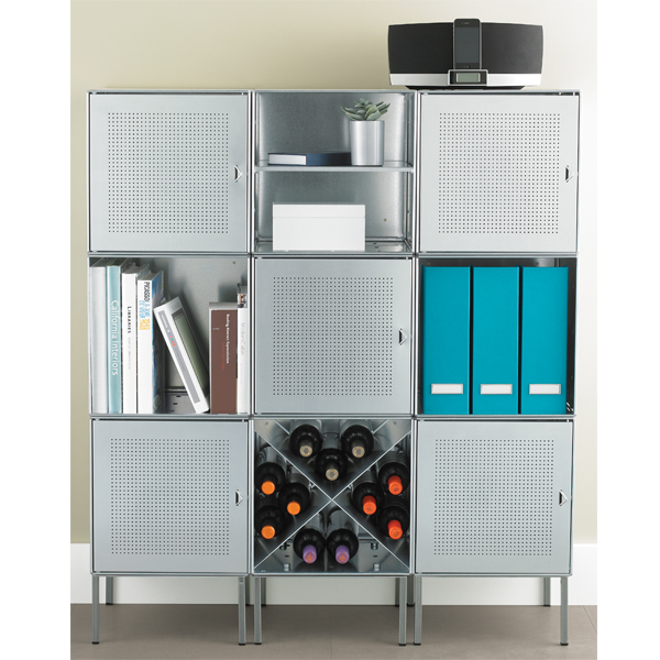 QBO Steel Cube Library Galvanized