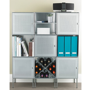Galvanized QBO Steel Cube Library