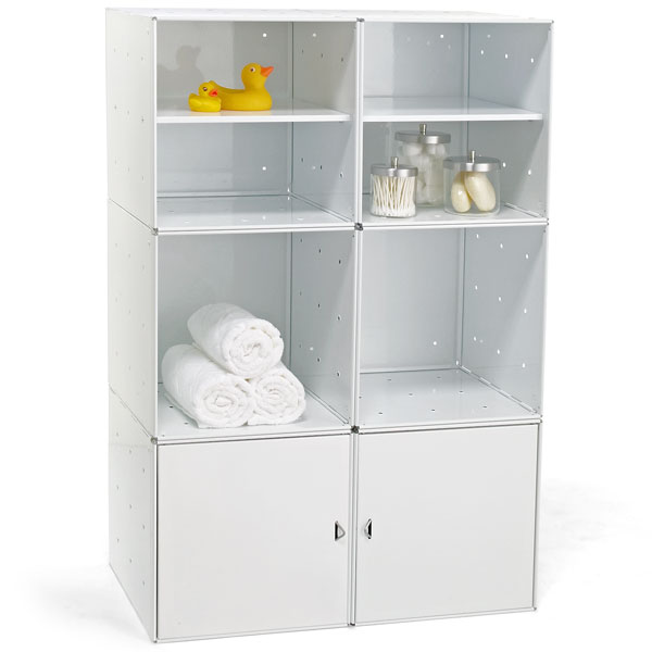 Enameled QBO Steel Cube Bath Storage
