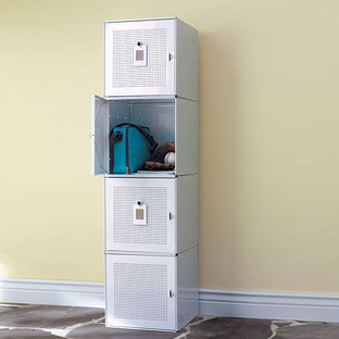 White Enameled QBO Steel Cube Locker