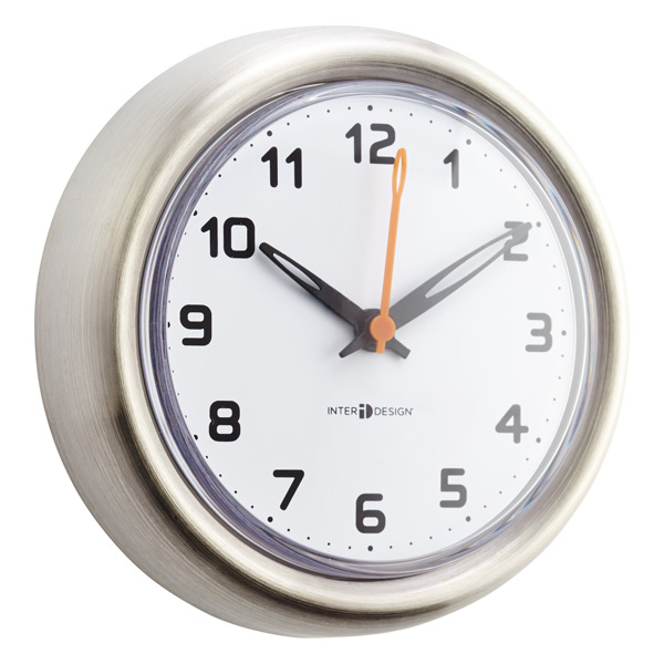 Forma Stainless Steel Suction Clock