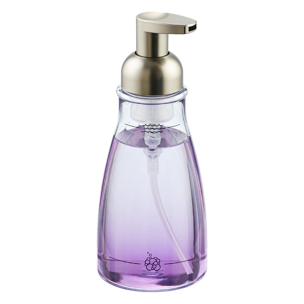 Brushed nickel foaming soap pump the container store - Brushed nickel soap dispenser pump ...