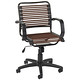 Flat Bungee Office Chair w/ Arms Chocolate