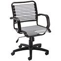 Silver Flat Bungee Office Chair with Arms