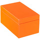 Medium Lacquered Rectangular Box Orange