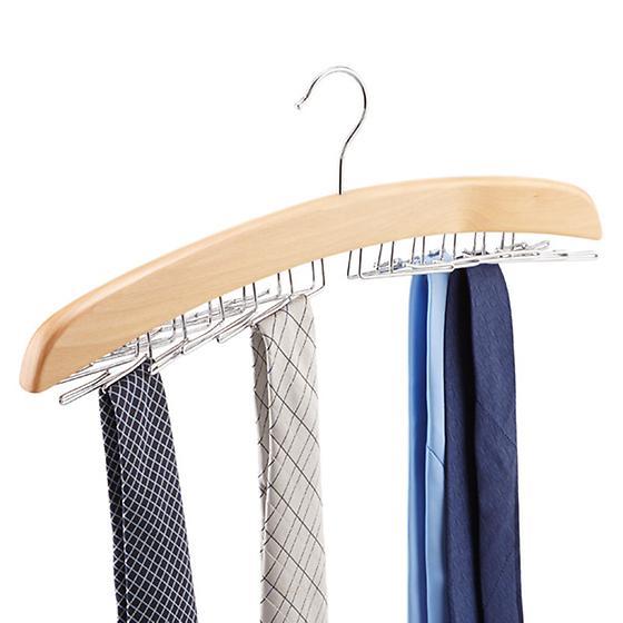 Natural 24-Tie Hardwood Hanger