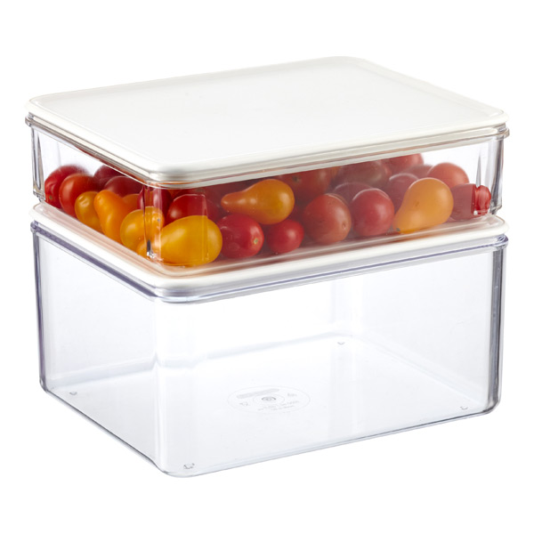Modulbox Food Storage With White Lids The Container Store