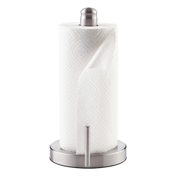 stainless steel perfect tear paper towel holder the container store. Black Bedroom Furniture Sets. Home Design Ideas
