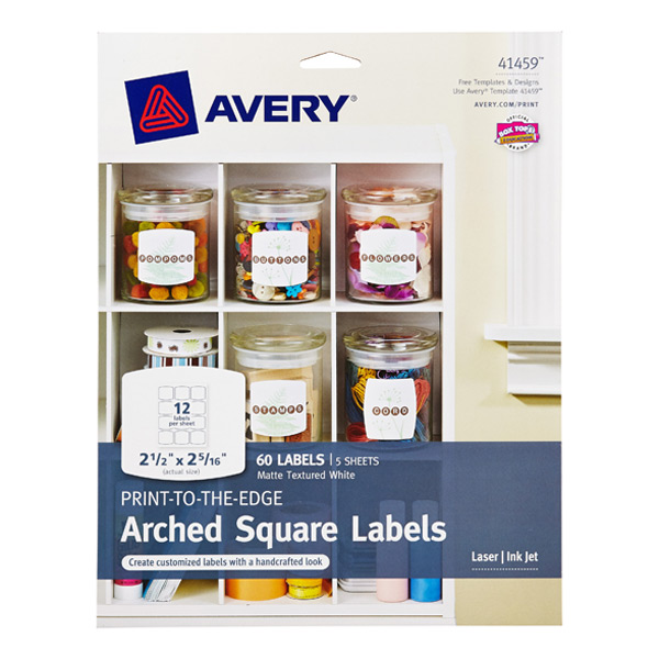 arched square avery printable label sheets