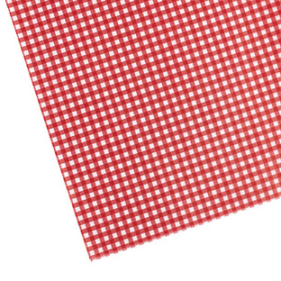 Red Gingham Waxed Tissue
