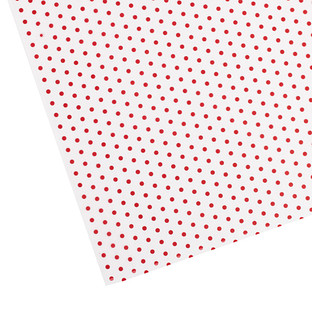 Red Polka Dot Waxed Tissue