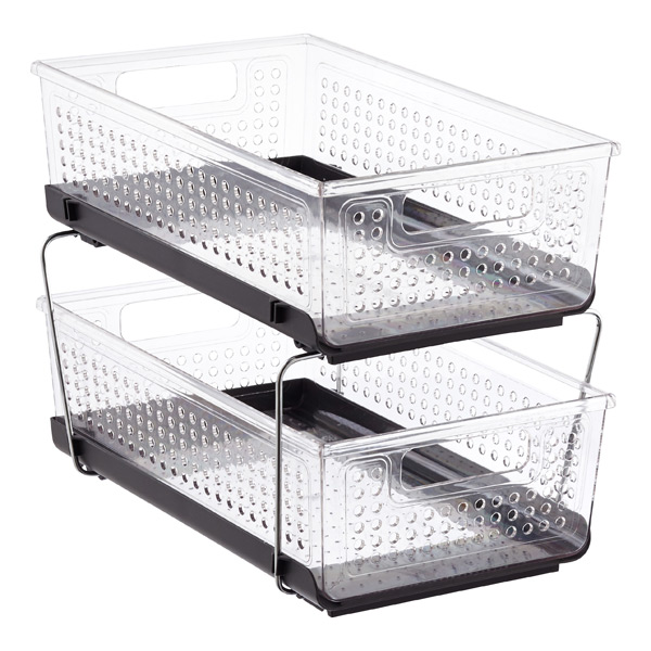 2-Tier Pull-Out Cabinet Organizer