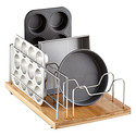 "Bamboo 14"" Roll-Out Bakeware Organizer"