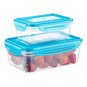 Rectangle Containers with Blue Lids