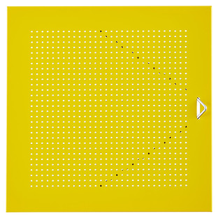 Yellow Enameled QBO Perforated Steel Cube Door