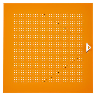 Orange Enameled QBO Perforated Steel Cube Door