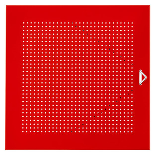 Red Enameled QBO® Perforated Steel Cube Door