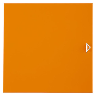 Orange Enameled QBO Steel Cube Door