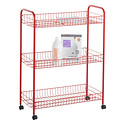 Red 3-Tier Grande Rolling Cart