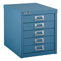 Blue Bisley 5-Drawer Cabinet