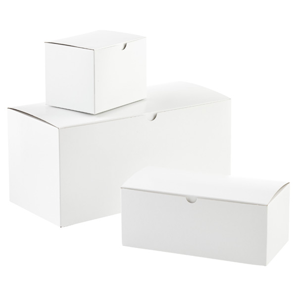 White 1-Piece Rectangular Gift Boxes