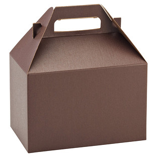 Large Chocolate Gable Box