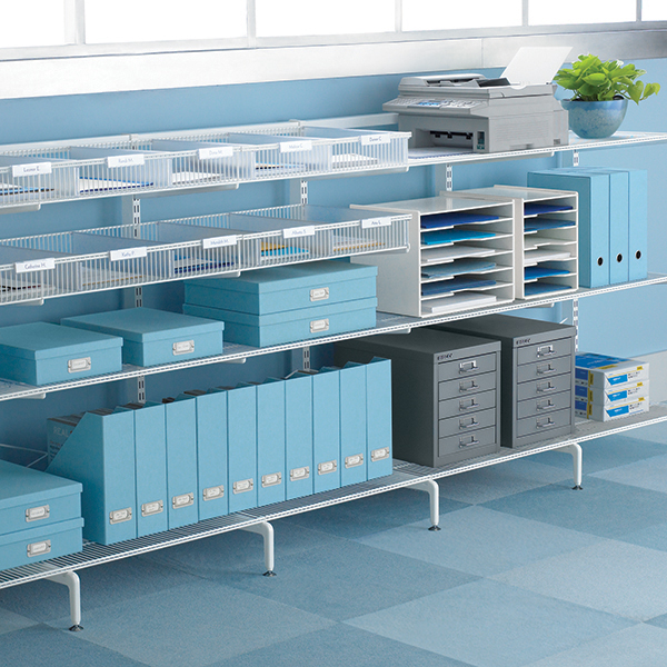 White Office Storage