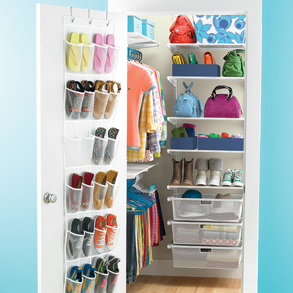 White Elfa Walk In Teen Closet The Container Store