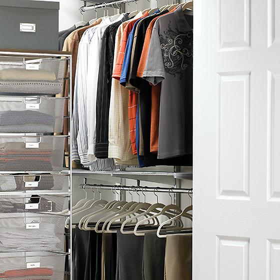 Platinum elfa Loft Walk-In Closet