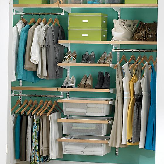 Birch & White elfa décor Chic Reach-In Closet