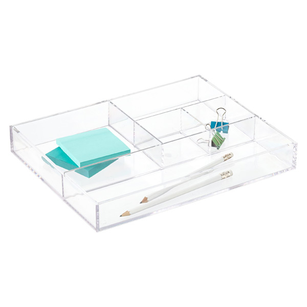5-Section Acrylic Divided Tray