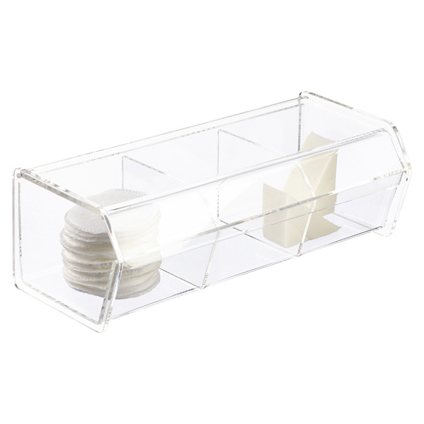 Acrylic Box Lid : Section acrylic hinged lid box the container store