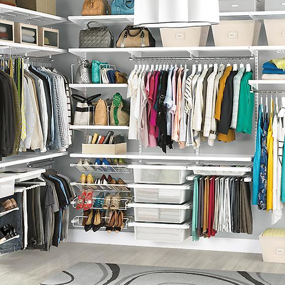 White His & Hers Closet