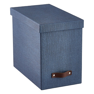 Blue 13 Pocket Accordion Receipt File The Container Store
