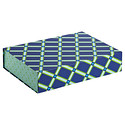 Geo Blue Allure Collapsible Box