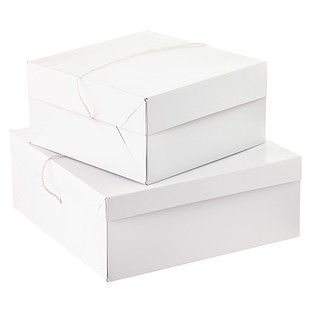 White Hat Boxes with String Handles