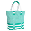Teal Bellini Striped Tote