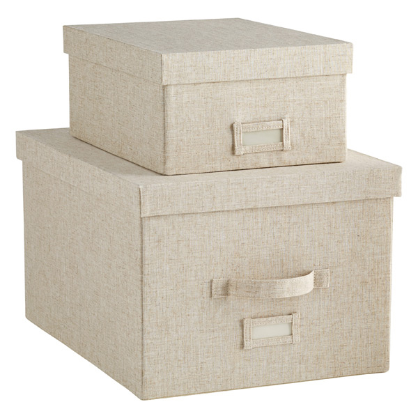 Linen Storage Boxes The Container Store