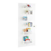 White elfa utility Mesh Media Room Door & Wall Rack Solution
