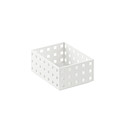 White Like-it Bricks 4 Medium Short Bin