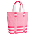Pink Bellini Striped Tote