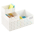 White Like-it® Bricks Office Storage