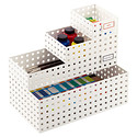 White Like-it Bricks® Paint Storage