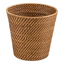 Copper Rattan Wastebasket