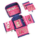 in.bag® Navy & White Dots Large Jewelry Organizer & in.bag® Earring Stays