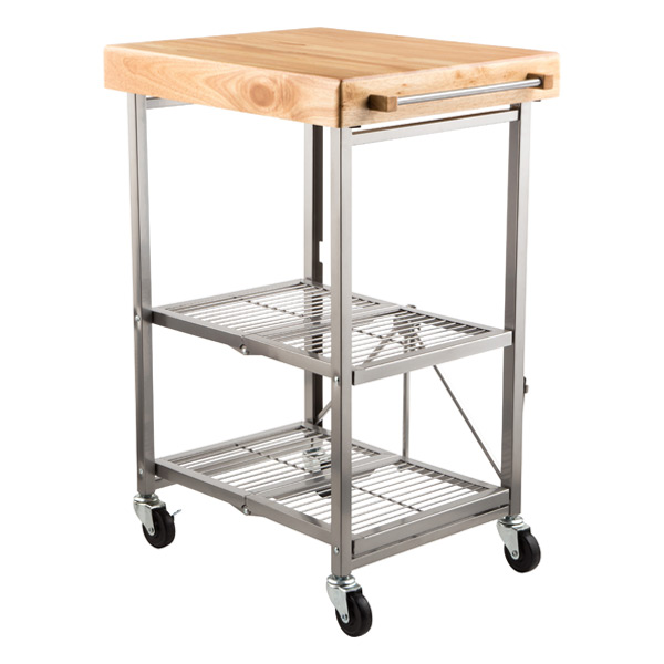 Origami kitchen cart the container store for Collapsible kitchen cart