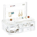 Crystal Clear Earring & Ring Organizer & Drawers