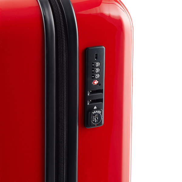 "Red 20"" Lucid 4-Wheeled Luggage"