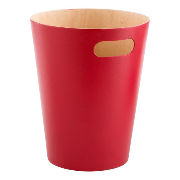 Red woodrow wastebasket by umbra the container store - Rd wastebasket ...